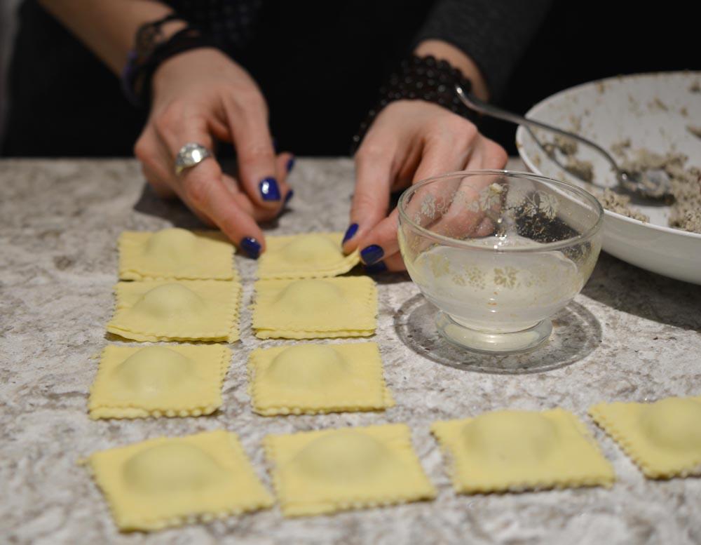 Making Mushroom Ravioli